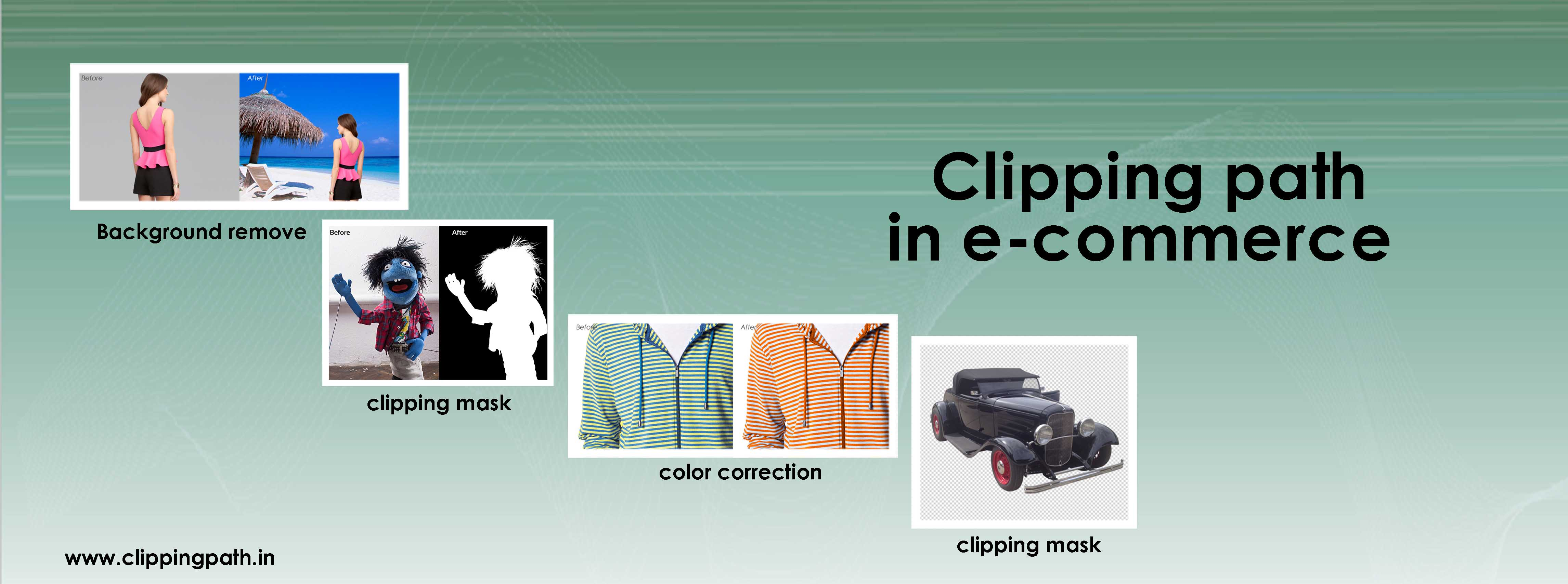 Clipping path in e-commerce image