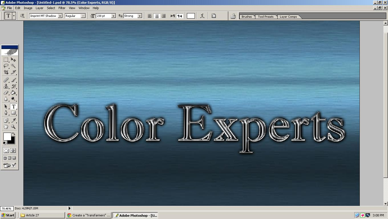 Transformer Text Effect in Photoshop