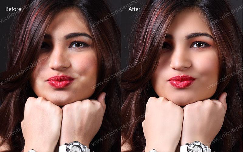 Glamor Retouching With Digital Makeup