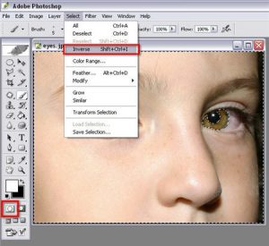 Photoshop Invert Selection Image