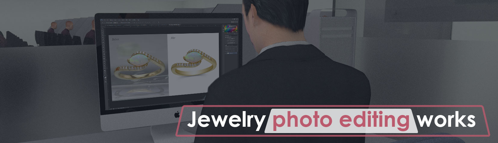 Jewelry photo editing works