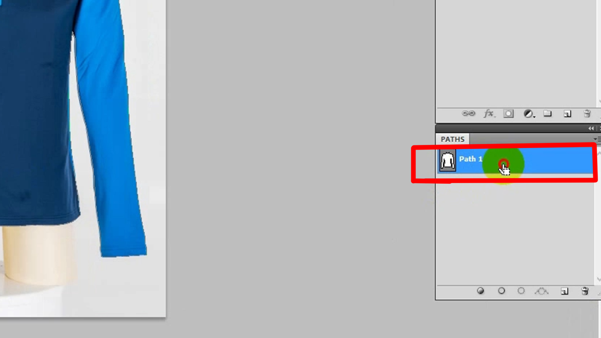 Completing clipping path, press & hold Ctrl and click on the Path layer to select the whole product