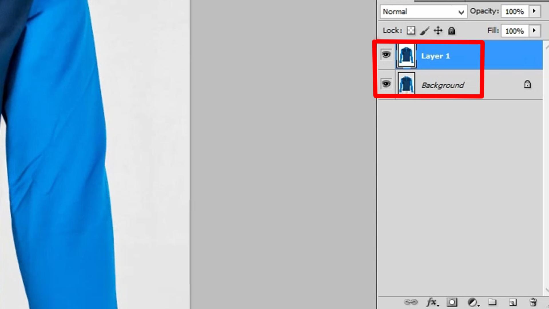 Press Ctrl + J to duplicate the layer