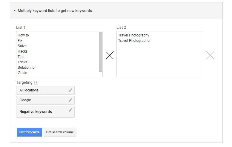 Group Keyword Select