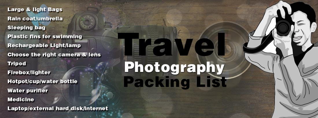Travel Photography Packing List