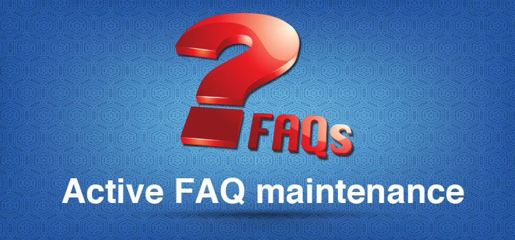 Active FAQ maintenance