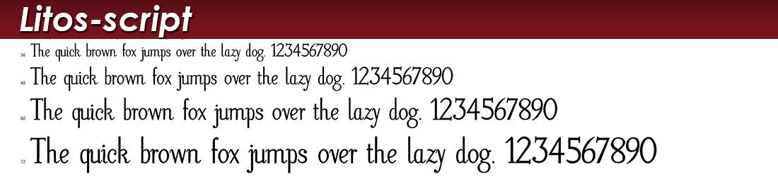 Litos Script Fonts