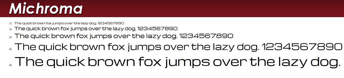 Michroma Fonts Image