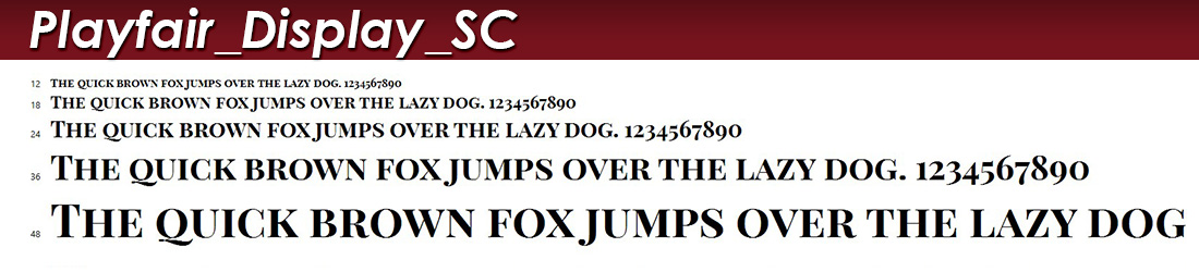 Playfair Display SC fonts image