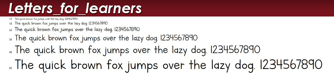 letters_for_learners fonts image