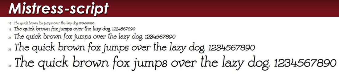 mistress script font picture