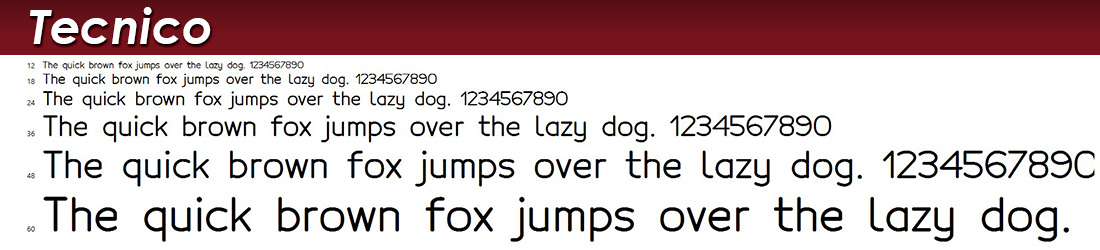 tecnico fonts image