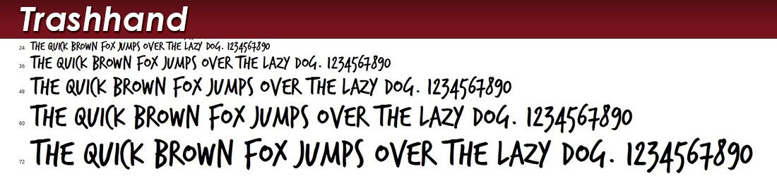 trash hand font image