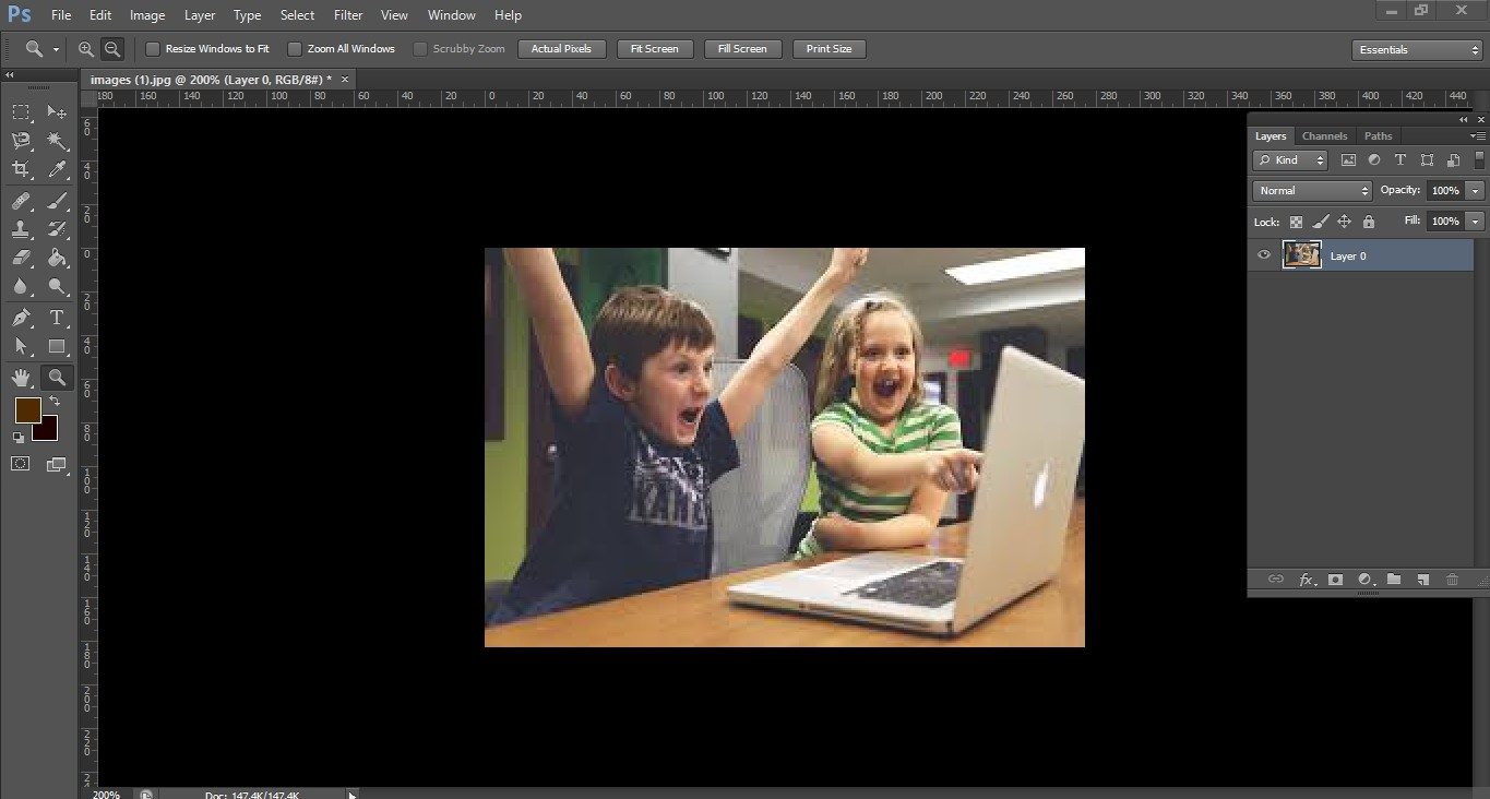 Blur Image in Photoshop