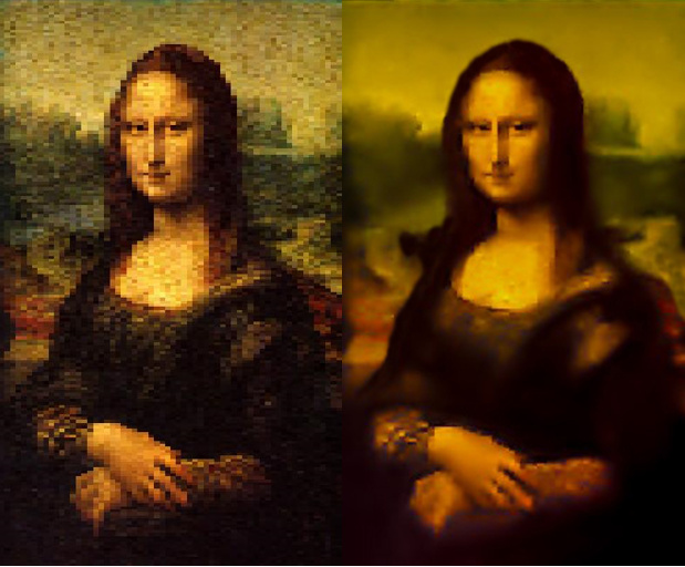 Final Look of Monalisa Image