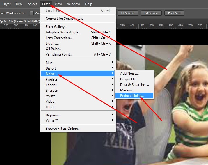 Reduce Blur Image work in Photoshop