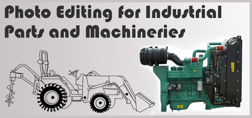 photo editing for industrial parts